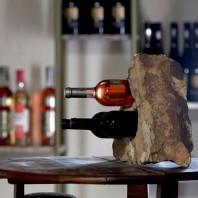 Suport sticle vin - Sandstone Mandras (3 gauri) PIATRAONLINE  AG-2806