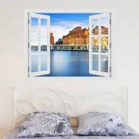 Fereastra cu efect 3D - Golf in insula Elba - 119x93 cm