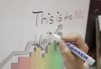 CB 75 - Folie transparenta mata cu suprafata whiteboard si ecran proiectii