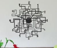 "Sticker tip ceas de perete ""Labirint"""
