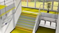 Acoperire acustica din PVC pentru scari - FORBO Sarlon Complete Step