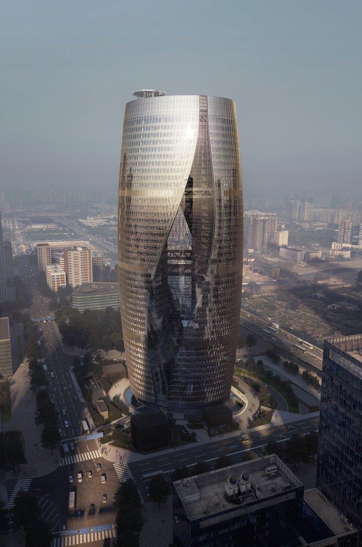 Zgarie-noriul Leeza SOHO, Beijing Atunci cand va fi finalizat, undeva pe la mijlocul acestui an, in Beijing, va avea cel mai inalt atrium din lume, o caracteristica impusa mai mult de constrangerile specifice amplasamentului. Astfel, in conditiile in care cladirea este construita de biroul Zaha Hadid Architects deasupra unei linii de metrou, arhitectii au dorit sa reduca presiunea exercitata asupra tunelului. Totodata, atriumul are un rol important in atingerea obiectivelor privind eficienta energetica, alaturi de forma rasucita a constructiei, menita sa permita patrunderea luminii naturale indiferent de anotimp sau de momentul zilei.