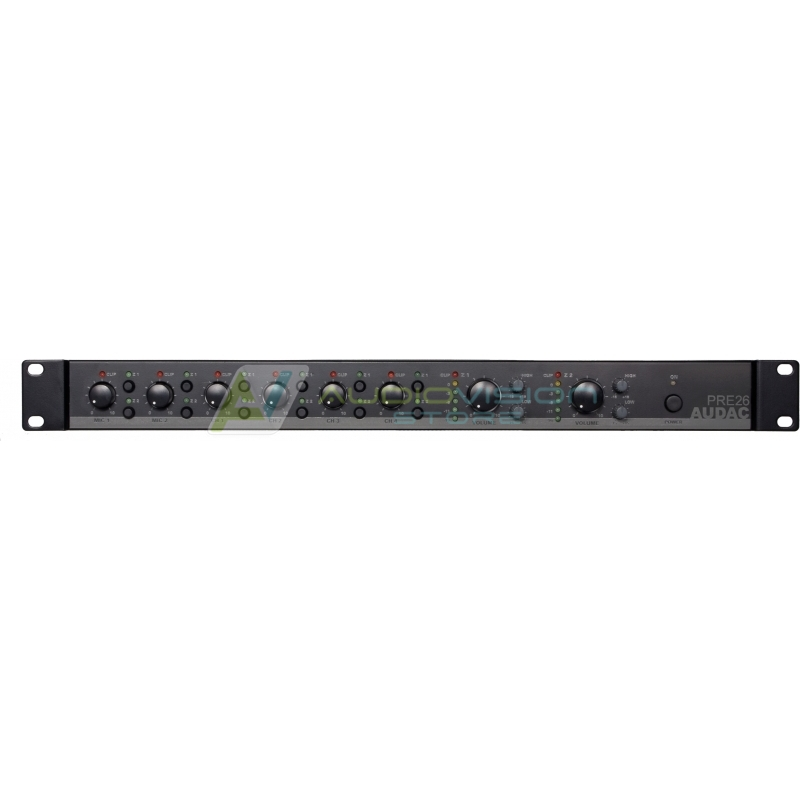 Preamplificator audio 2 zone Audac PRE26