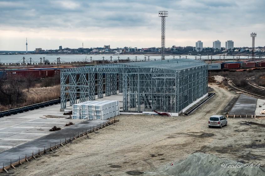 Prima placă aerată pentru o construcție industrială din structură metalică ușoară