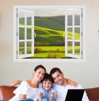 Fereastra cu efect 3D - Primavara Toscana - 119x93 cm