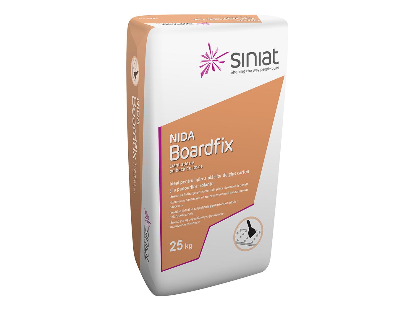 Liant adeziv pe baza de ipsos Siniat NIDA Boardfix 25 kg