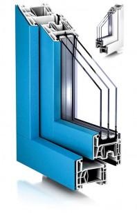 Sistemul TROCAL 76 AD pentru ferestre cu deschidere spre interior