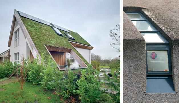 Ferestre FAKRO pe acoperiș verde / Rame pentru montaj pe stuf