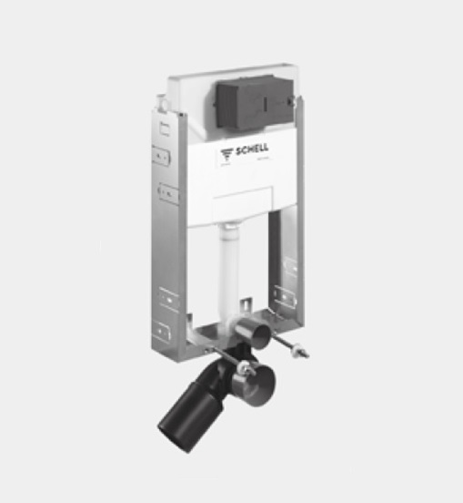 Modul de montaj cu rezervor pentru SCHELL MONTUS C-N 120 pentru WC