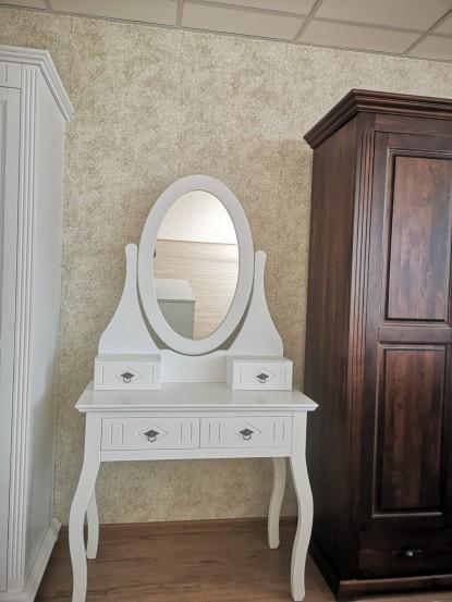 Camera cu oglinda alba si tapet model  model 5-1282 Gamma Argint-Cafea  Bucuresti TOP RESERVE BUSINESS