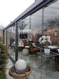 Sistem din sticla pentru inchiderea teraselor