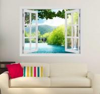 Fereastra cu efect 3D - Lacurile Plitvice Croatia - 119x93 cm