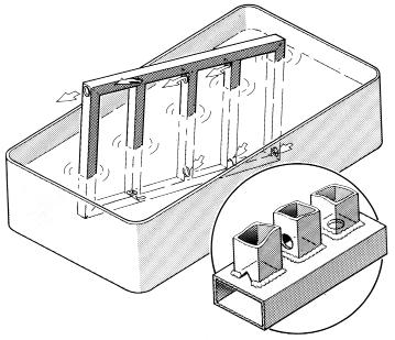 Fig 2 Metodă de aranjare a găurilor pentru a asigura o aerisire corespunzătoare a unei piese
