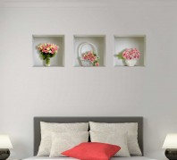 Sticker cu efect 3D - Trandafiri