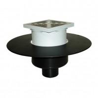 Receptor pentru acoperis, cu scurgere verticala, guler din PP si gratar pentru trafic - HL62BF