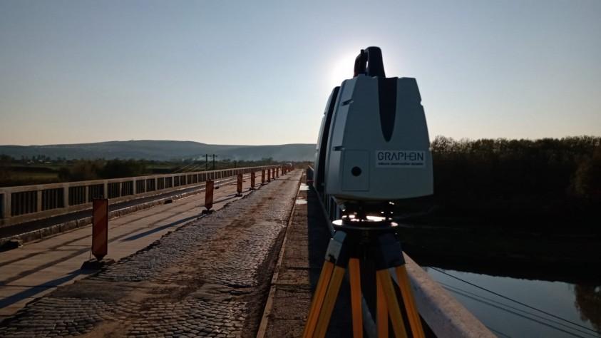 Detaliu - Pod Dolhasca in timpul scanarii 3D  Dolhasca GRAPHEIN GRAPHEIN
