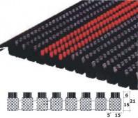 Stergator profesional cu insertii din perii fixate in PVC rigid - Decomat