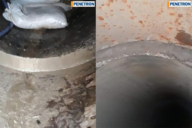 Etanșare conducte din beton