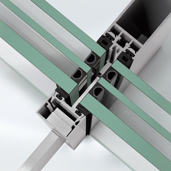 Sistem de profile din aluminiu pentru pereti cortina - Schüco FWS 35 PD