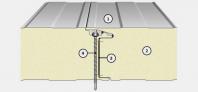 Panou termoizolant de perete cu imbinare ascunsa IsoPer A