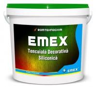 """TENCUIALA DECORATIVA SILICONICA """"EMEX"""", Alb, Bidon 25 KG"""