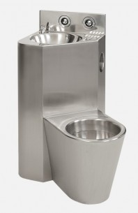 Combinatie de lavoar si vas WC din otel inox - SANELA SLWN 18P