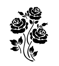 Sablon decorativ 3D Roses, reutilizabil