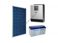 Kit fotovoltaic complet 1500 Wp, invertor 3 KVA, baterii GEL 150 Ah, productie 6kWh zi