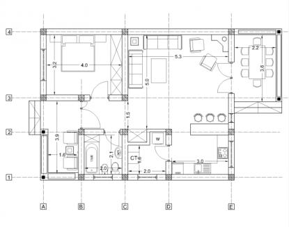 Proiect de Casa - 80 mp  ArhiProPub