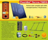 Pachet solar (kit) complet apa calda menajera pentru 7-8 persoane - ITechSol® Termo 78P4