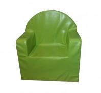 Fotoliu fix, piele ecologica MELI & MAIA, verde