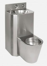 Combinatie de lavoar si vas WC stativ din otel inox - SANELA SLWN 38