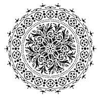 Sablon decorativ 3D, Baroque Mandala, reutilizabil