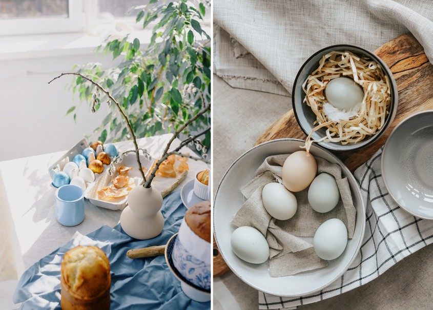 Cum aranjezi o masă de Paşte