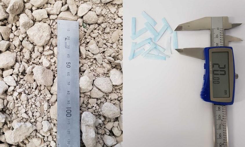 Noul material este un amestec de agregat de beton reciclat si masti de protectie maruntite.