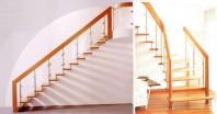 Scara din lemn dreapta sau balansata - Glass Design