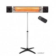 Incalzitor cu stand Veito CH2500RW 2,5K W, electric, infrarosu, terasa, interior-exterior, fibra carbon, aluminiu