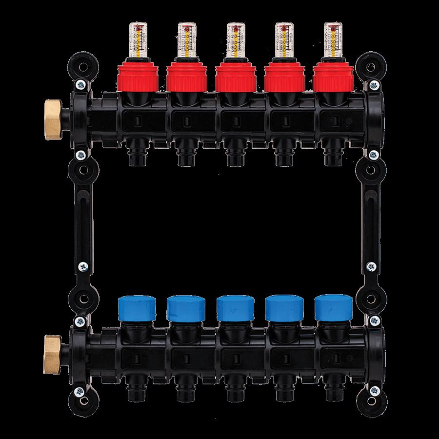 Distribuitor / colector modular, cu debitmetre