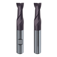 Freza cilindro-frontala din carburi 2 dinti, acoperire TiAlN