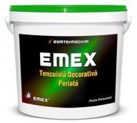 "TENCUIALA DECORATIVA PERIATA""EMEX"", Alb, Bidon 25 KG"