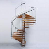 Scara in spirala cu trepte din lemn masiv - INVENT
