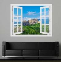 Fereastra cu efect 3D - Acropole, Grecia - 119x93 cm