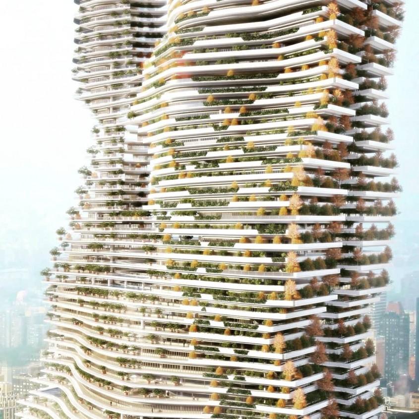 """O clădire înaltă de 737 de metri care """"mănâncă"""" CO2"""