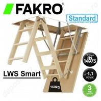 Scara din lemn pentru acces in pod - FAKRO LWS Smart