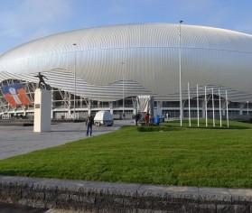 Elis Pavaje a amenajat spatiile exterioare ale stadionului Ion Oblemenco din Craiova