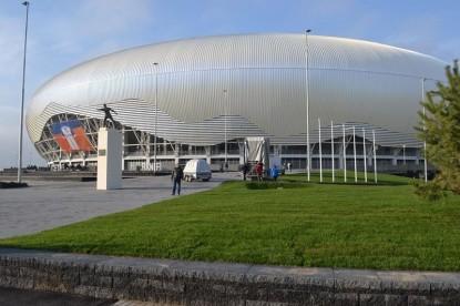 Amenajarea zonei verzi de langa Stadionul Oblemenco  Craiova ELIS PAVAJE