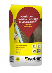 Adeziv flexibil pentru polistiren expandat si vata minerala - weber P50 max2