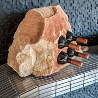 Suport sticle vin - Sandstone Mandras (4 gauri) PIATRAONLINE  AG-2807