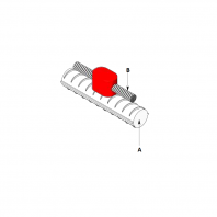 Conexiune exotermica intre conductor cupru si fier beton (rebar). Tip de conexiune linie
