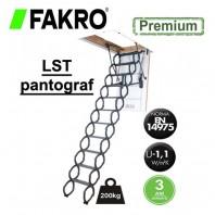Scara metalica tip pantograf pentru acces in pod - FAKRO LST